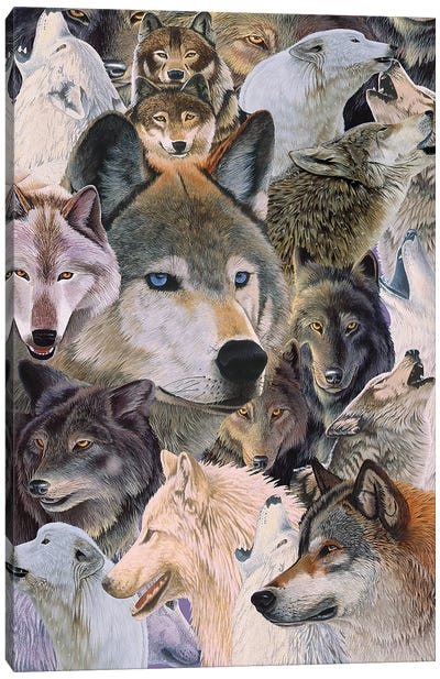 Wolves Alive Canvas Art Print