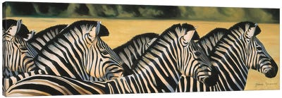 Zebras Canvas Art Print