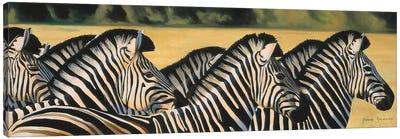 Zebras Canvas Art Print