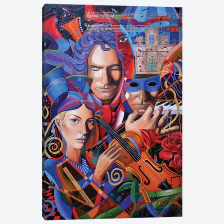Is That You, Beethoven? Canvas Print #GST34} by Graeme Stevenson Canvas Wall Art