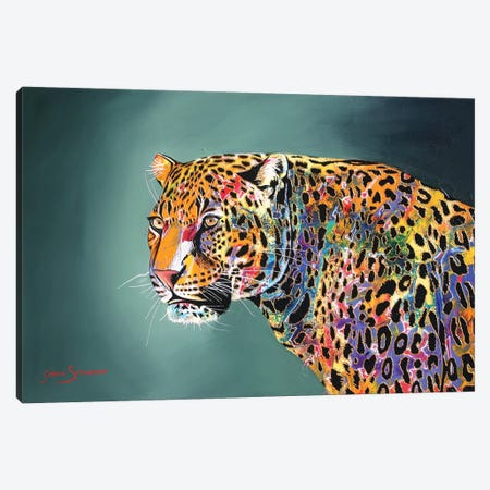 Morning Of The Jaguar 3-Piece Canvas #GST44} by Graeme Stevenson Canvas Print