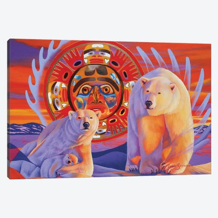Polar Legends  Canvas Print #GST53} by Graeme Stevenson Canvas Art Print