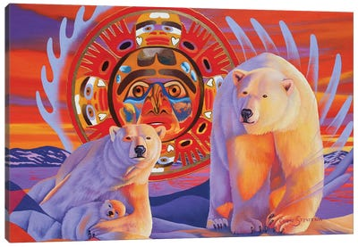 Polar Legends  Canvas Art Print