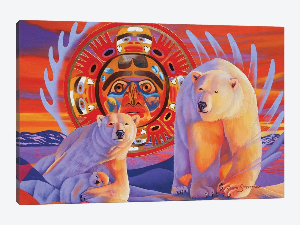 Polar Legends  by Graeme Stevenson 1-piece Canvas Art Print