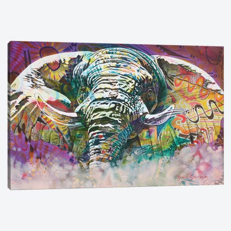 Psychedelic Elephant Canvas Print #GST54} by Graeme Stevenson Canvas Artwork