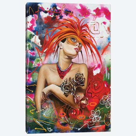 Rainbow Girl Canvas Print #GST55} by Graeme Stevenson Canvas Artwork