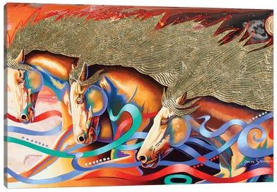 Stallions Of The Gods Canvas Art Print
