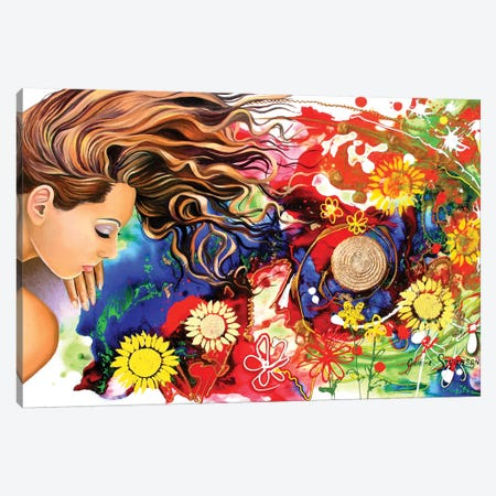 Asleep In The Garden Canvas Print #GST6} by Graeme Stevenson Art Print