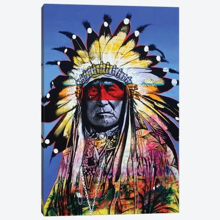 Wisdom Of The Warrior Canvas Print #GST75} by Graeme Stevenson Canvas Wall Art