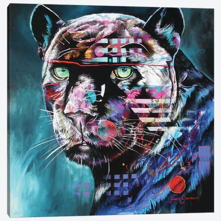The Black Night Canvas Print #GST89} by Graeme Stevenson Canvas Wall Art