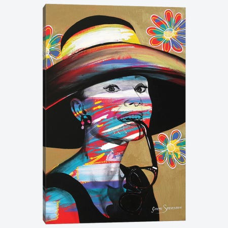 Audrey Canvas Print #GST8} by Graeme Stevenson Canvas Artwork