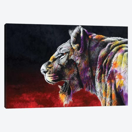 The Hunt Canvas Print #GST95} by Graeme Stevenson Canvas Artwork