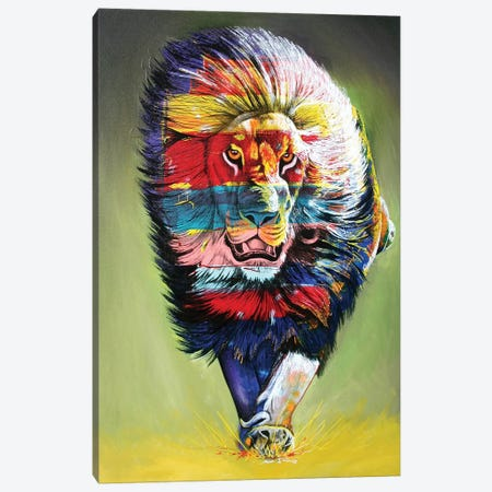 The Rainbow Hunter Canvas Print #GST98} by Graeme Stevenson Art Print