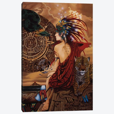 Aztec Dawn 3-Piece Canvas #GST9} by Graeme Stevenson Canvas Art