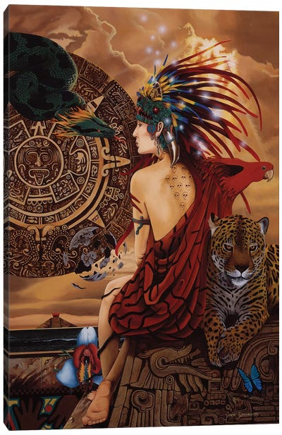 Aztec Dawn Canvas Art Print