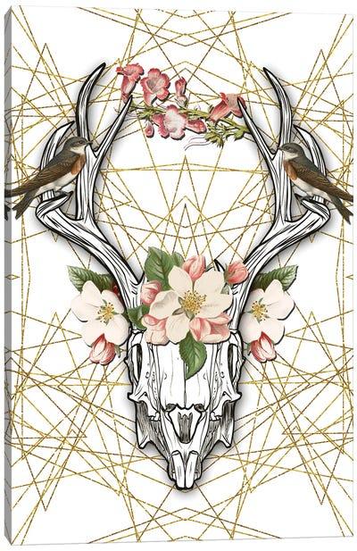 Boho Skull Canvas Art Print