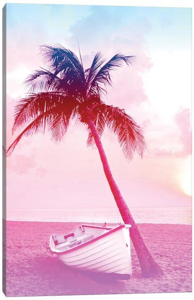Tropical Coastal Sunset Canvas Art Print