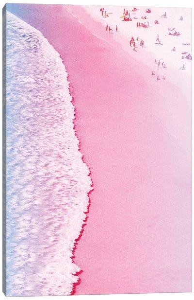 Tropical Pink Beach Canvas Art Print