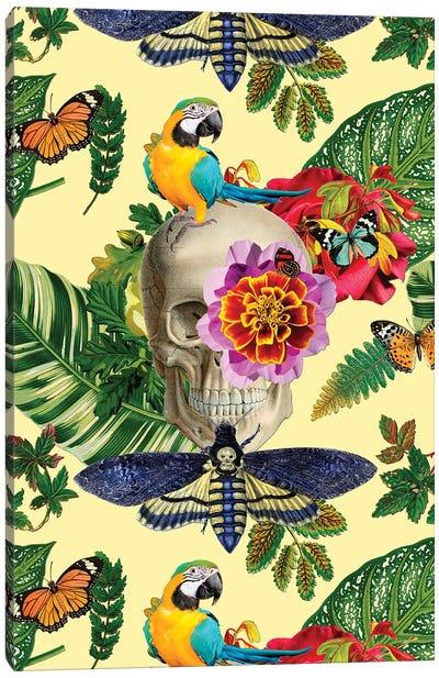 Tropical Skull Canvas Art Print