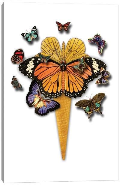 Butterflies Ice Cream Canvas Art Print