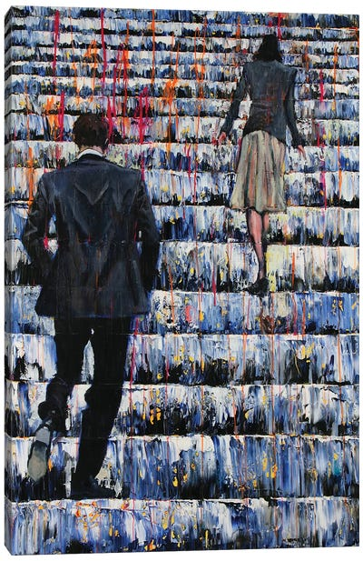 Flirt Canvas Art Print