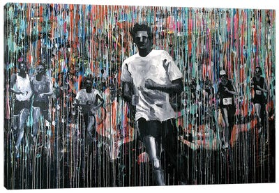 Marathon Man Canvas Art Print