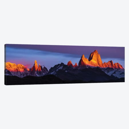 Argentina, Patagonia, Sunrise, colorful Canvas Print #GTH10} by George Theodore Canvas Art