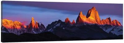 Argentina, Patagonia, Sunrise, colorful Canvas Art Print