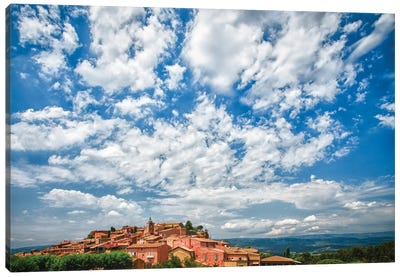 France, Provence, Roussillon, village view Canvas Art Print