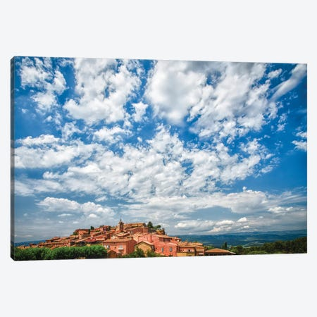France, Provence, Roussillon, village view Canvas Print #GTH13} by George Theodore Canvas Art