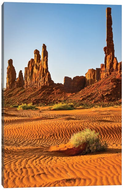 USA, Arizona. Monument Valley, Totem Canvas Art Print