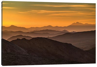 USA, California, Death Valley National Park, mountain ridges Canvas Art Print
