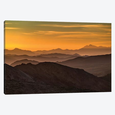 USA, California, Death Valley National Park, mountain ridges Canvas Print #GTH18} by George Theodore Canvas Artwork