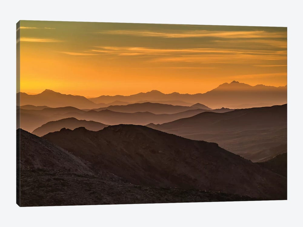 USA, California, Death Valley National Park, mountain ridges by George Theodore 1-piece Canvas Print