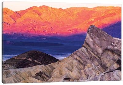 USA, California. Death Valley National Park, Zabriskie Point  Canvas Art Print