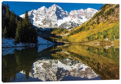 USA, Colorado, Maroon Bells Canvas Art Print