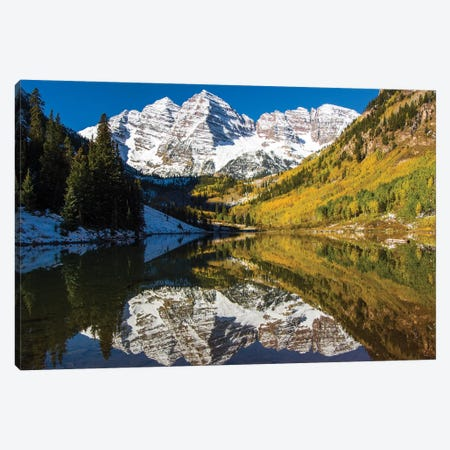 USA, Colorado, Maroon Bells Canvas Print #GTH20} by George Theodore Art Print