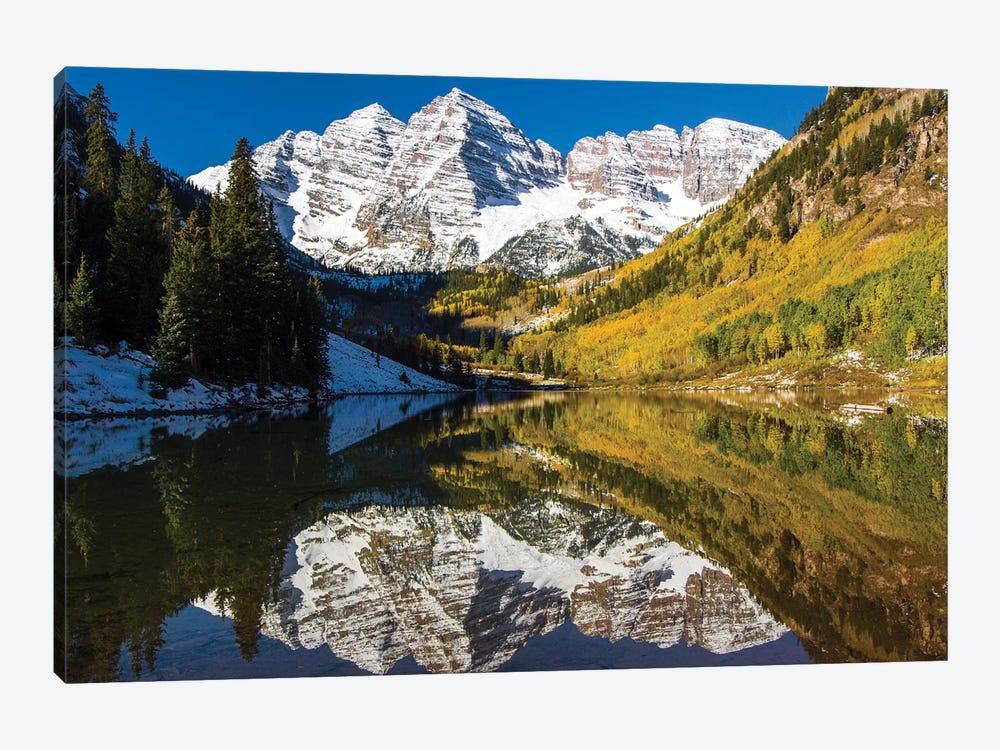 USA, Colorado, Maroon Bells by George Theodore 1-piece Canvas Artwork