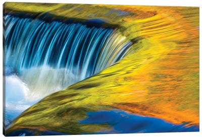 USA, Michigan, waterfall, abstract Canvas Art Print