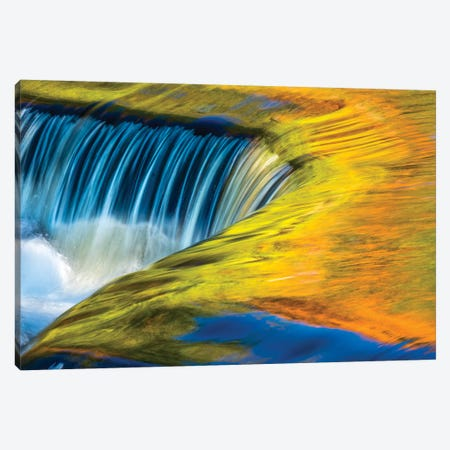 USA, Michigan, waterfall, abstract Canvas Print #GTH22} by George Theodore Canvas Print