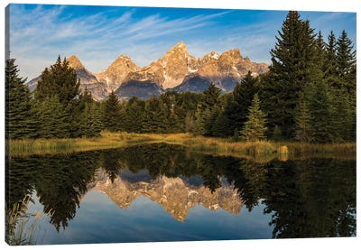 USA, Wyoming, Grand Teton National Park, reflections Canvas Art Print