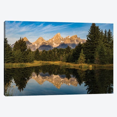 USA, Wyoming, Grand Teton National Park, reflections Canvas Print #GTH27} by George Theodore Canvas Wall Art