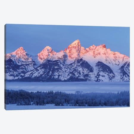 USA, Wyoming. Grand Teton National Park, winter landscape I Canvas Print #GTH29} by George Theodore Art Print