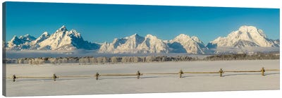 USA, Wyoming. Grand Teton National Park, winter landscape II Canvas Art Print