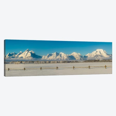 USA, Wyoming. Grand Teton National Park, winter landscape II Canvas Print #GTH30} by George Theodore Canvas Artwork