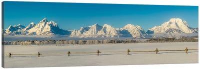 USA, Wyoming. Grand Teton National Park, winter landscape II Canvas Art Print