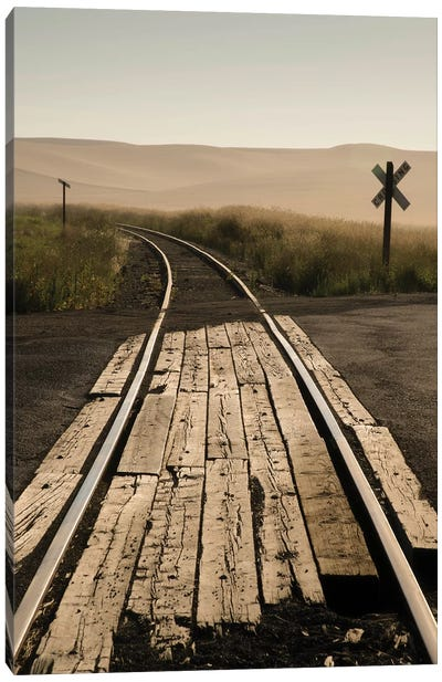 USA, Washington State, Palouse, Railroad, tracks Canvas Art Print