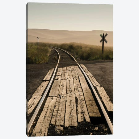 USA, Washington State, Palouse, Railroad, tracks Canvas Print #GTH33} by George Theodore Canvas Wall Art