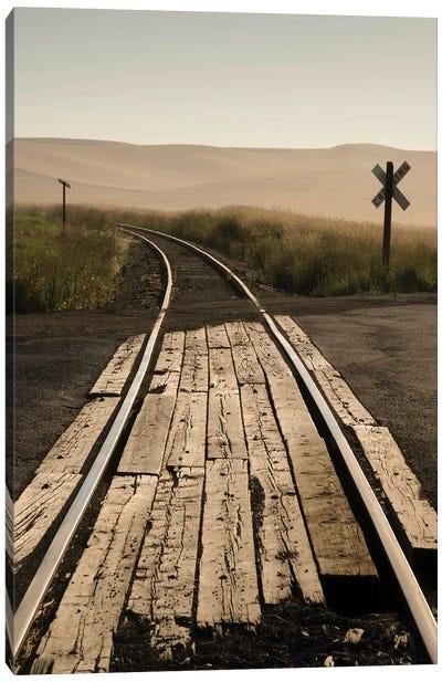 USA, Washington State, Palouse, Railroad, tracks Canvas Art Print