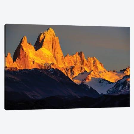 Argentina, Patagonia. El Chalten, Fitz Roy Canvas Print #GTH41} by George Theodore Art Print